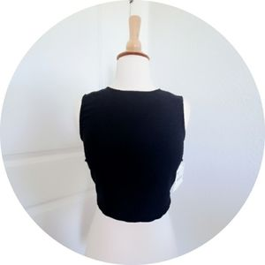 New Zara black crop top Size XS